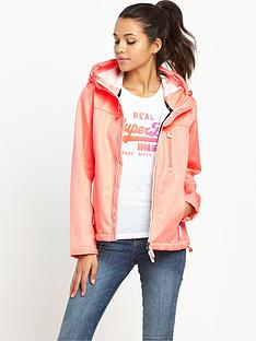 superdry-prism-hooded-windtrekkernbsp--fluro-coral