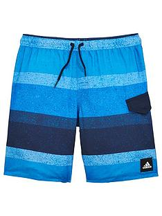 adidas-adidas-older-boys-block-stripe-swim-short