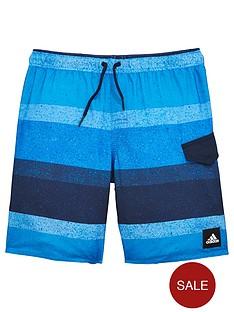 adidas-adidas-older-boys-block-stripe-swim-short