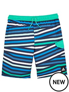 adidas-adidas-older-boys-stripe-swim-short