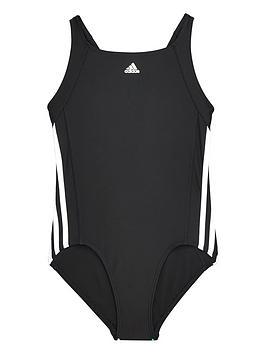 Adidas Older Girls 3S Swimsuit