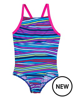 adidas-adidas-older-girls-stripe-swimsuit