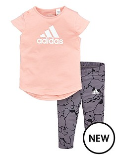 adidas-adidas-baby-girls-tee-and-print-tight-set