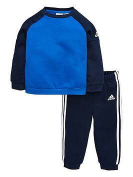Adidas Baby Boys Fleece Crew Set
