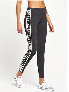 superdry-tri-league-graphic-leggings-charcoal-marl