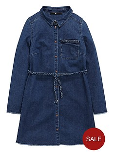 v-by-very-girls-plait-detail-denim-dress