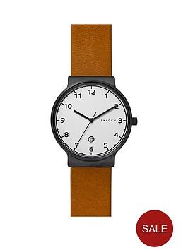 skagen-skagen-ancher-white-dial-tan-leather-strap-mens-watch