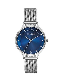 skagen-skagen-anita-blue-dial-silver-tone-mesh-bracelet-ladies-watch