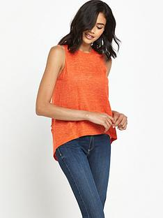 river-island-river-island-orange-sleeveless-knitted-top