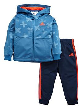 Adidas Baby Boys Poly Hooded Suit