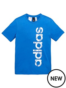 adidas-older-boys-linear-logo-tee