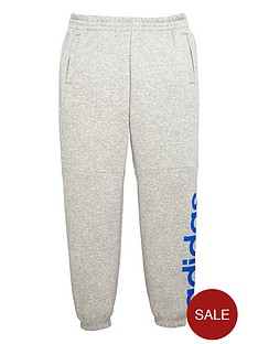 adidas-adidas-older-boys-linear-logo-fleece-pant