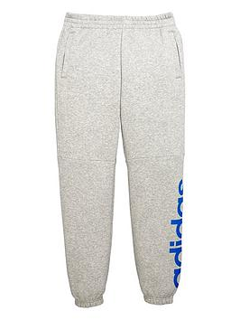 Adidas Adidas Older Boys Linear Logo Fleece Pant