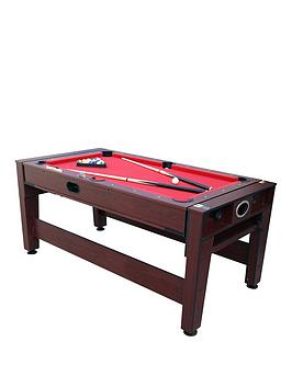 Body Sculpture 2 In 1 6Ft Swivel Billiard &Amp Air Hockey Table