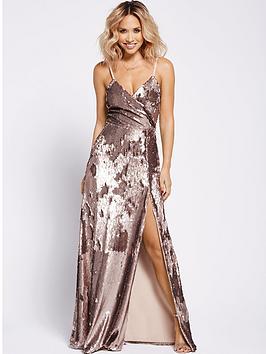 myleene-klass-wrap-sequin-maxi-dress-gold