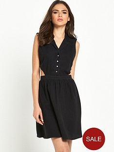noisy-may-amelia-black-denim-dress