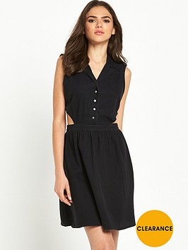 noisy-may-amelia-black-denim-dress