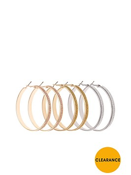 v-by-very-3-pk-glitter-hoop-earrings