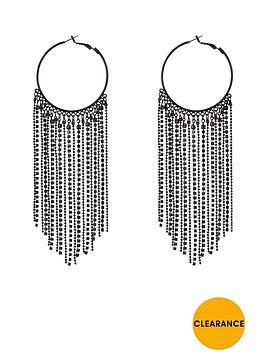 v-by-very-hoop-drop-earrings-chain-amp-diamante-detail