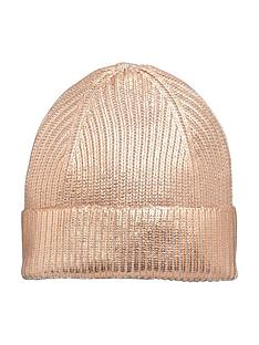 v-by-very-metallic-beanie