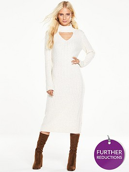 v-by-very-cable-knit-cut-out-midi-dressnbsp