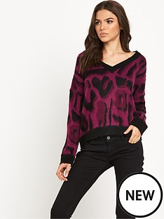 noisy-may-leon-ls-knit-v-neck-knit