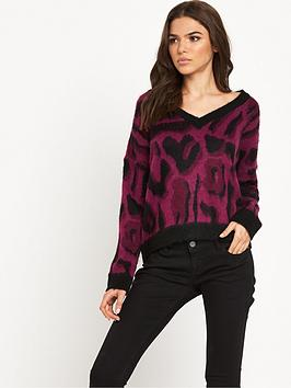 Noisy May Leon LS Knit VNeck Knit