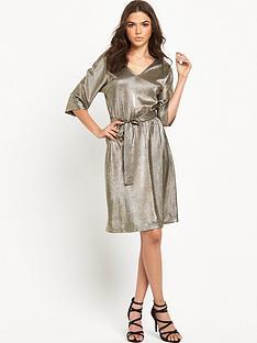 vero-moda-metallic-dress-silver