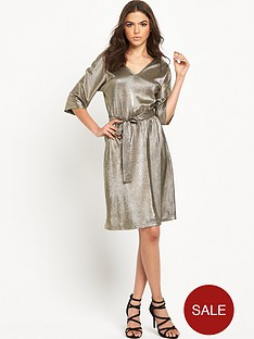 vero-moda-metallic-dress-silver