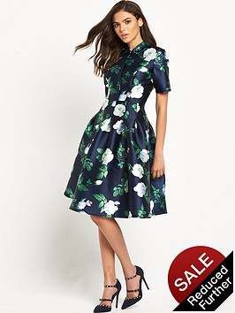 chi-chi-london-chi-chi-london-rose-print-button-up-collar-prom-dress