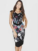 Little Mistress Bouquet Print Bodycon Dress