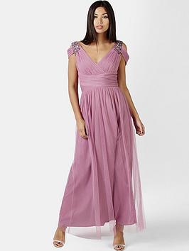 little-mistress-embellished-drape-shoulder-maxi-dress-rose