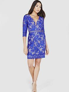 little-mistress-lace-v-neck-mini-dress