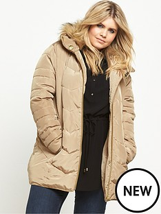 so-fabulous-short-padded-belted-coat-stone