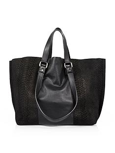 river-island-suedeleather-double-handle-bag-black