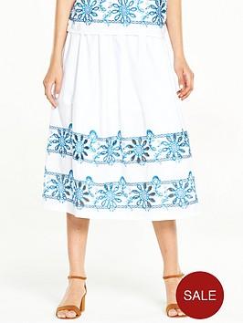 warehouse-embroidered-midi-skirt