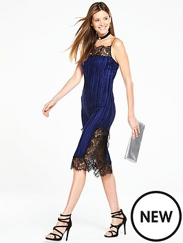 v-by-very-lace-trim-pleated-dress
