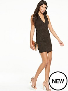 v-by-very-metallic-v-neck-dress