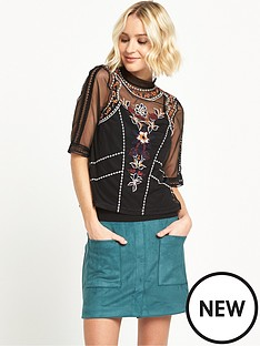 river-island-river-island-short-sleeved-embroidered-tee