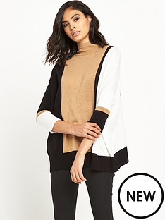 river-island-colourblock-roll-neck-jumper