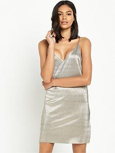 river-island-metallic-strappy-cami-dress