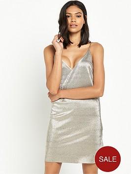 river-island-metallic-strappy-cami-dress