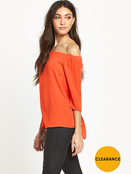 river-island-orange-bardot-top