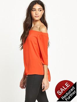 river-island-orange-bardot-top