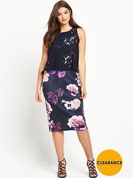 v-by-very-curve-curve-double-layer-scuba-midi-dress-floral-print