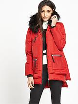 Red Oversized Padded Coat