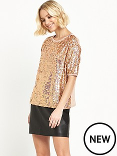 river-island-river-island-short-sleeved-boxy-sequin-top