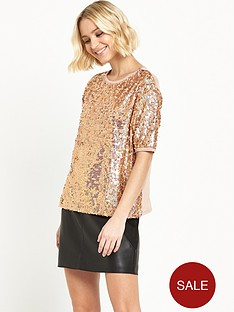 river-island-short-sleeved-boxy-sequin-top-orange