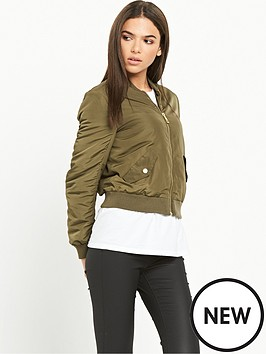 river-island-khaki-bomber-jacket