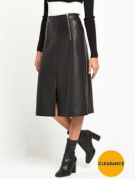 river-island-leather-look-zip-detail-midi-skirt